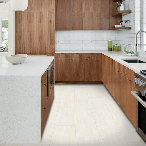 White tiles in kitchen | McCurleys National Flooring