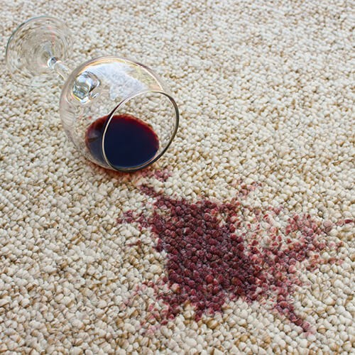 Wine spill on carpet | McCurleys National Flooring