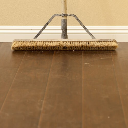 Sweeping hardwood flooring | McCurleys National Flooring